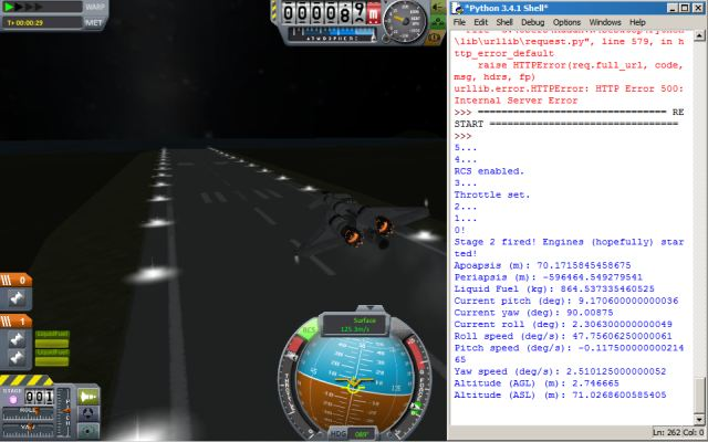 A picture of the stock Aeris Mk 4 being controlled from Python.