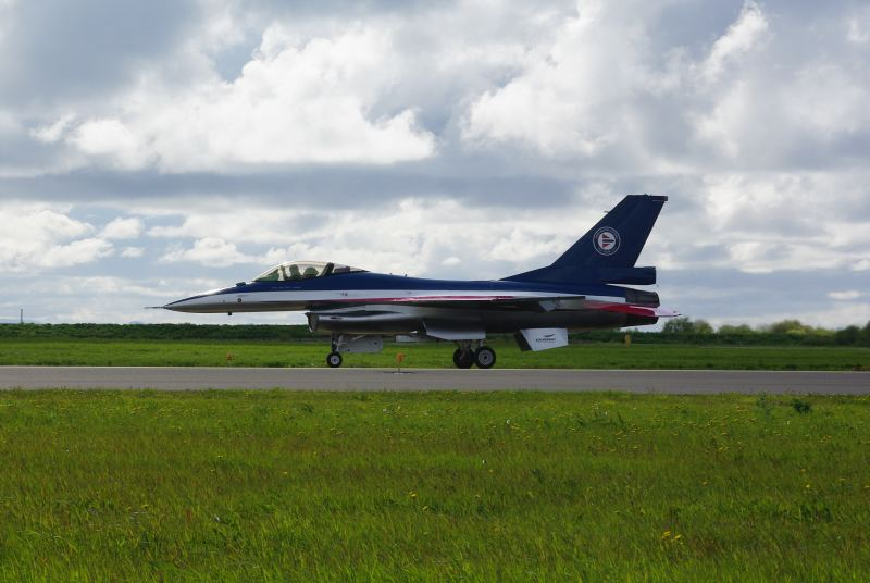Maj. Eskil Amdal's demo F-16AM at NTM2012